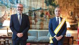 The ambassador was granted the Decoration at a ceremony held at the Embassy of Spain to Germany.