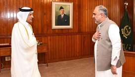 Pakistan's National Assembly Speaker meets Qatar's Ambassador.
