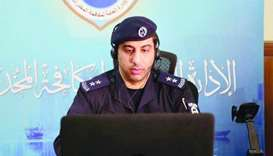 Lieutenant Abdullah Qasim addressing the virtual seminar