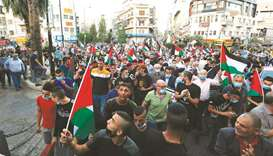 Palestinians commemorate uprising