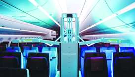 Qatar Airways first to use UV light for cabin disinfection
