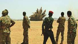 Sudanese army stand