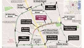 Closure of Umm Lekhba tunnel in both directions