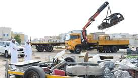 Al Daayen abandoned vehicles campaign