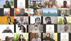 More than 100 guests joined the online event from Qatar, India and Singapore.