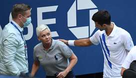 Djokovic disqualified from US Open after striking line judge