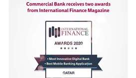 Commercial Bank receives two awards from International Finance Magazine
