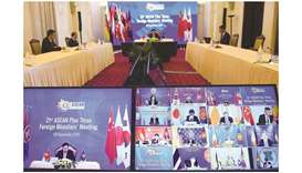 Foreign ministers from Asean countries