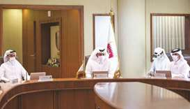Qatar Olympic Committee President (QOC) HE Sheikh Joaan bin Hamad al-Thani with Minister of Culture