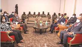 Special forces commander Mamady Doumbouya, who ousted President Alpha Conde meets Ivory Coast's Pres