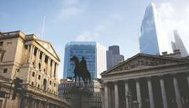 The Bank of England and the City of London financial district in London (file). Both the pound and F