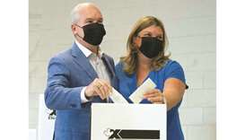 Conservative Party leader O'Toole and his wife Rebecca cast their ballots for the federal election,
