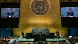 Amir stresses need to solve Afghanistan, Palestine, Covid issues in UNGA speech