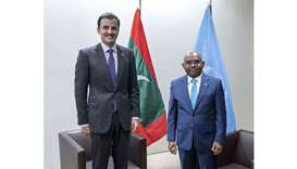 Amir meets president of 76th session of UN General Assembly