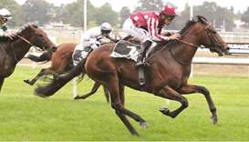 Soufiane Saadi rides Wassim (right) to victory at the Prix Des Espoirs in Nantes, France, yesterday.