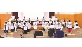 A total of 40 students recited the 'Oath of a Pharmacist,' and received their white coats.