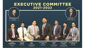 The executive committee members of Sri Lankan Toastmasters Club-Qatar for 2021-22.