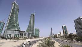 Bahrain Financial Harbour (left) and Bahrain World Trade Center are seen in diplomatic area in Manam