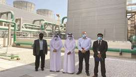 Kahramaa team visits Lusail City cooling plant