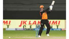 Jason Roy of Sunrisers Hyderabad in action during the Indian Premier League match against Rajasthan