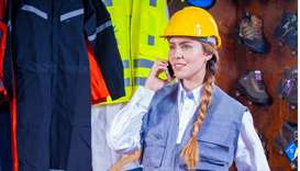 white lady worker foreign worker