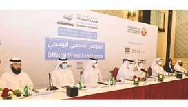 Dignitaries addressing a press conference on Tuesday as part of the Transport Engineering Conference