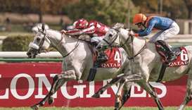 Tayf, ridden by Olivier Peslier, won the Qatar Arabian World Cup Group 1 PA at ParisLongchamp last y