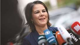 Co-leader and top for candidate for chancellor of the Greens (Die Grünen) party, Annalena Baerbock s
