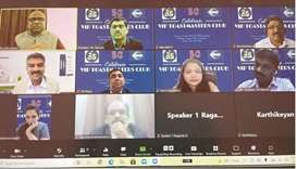VIP Toastmasters Club (VTC) recently conducted its 50th meeting via Zoom. Most of its founder leader