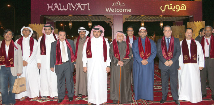 HE Sheikh Khalid bin Hamad al-Thani and other dignitaries at the opening ceremony of the Hawiyati Fe