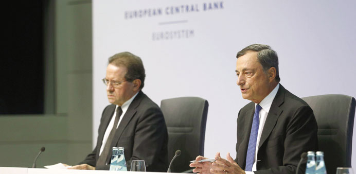 ECB flags beefed up QE as growth, inflation outlook fades
