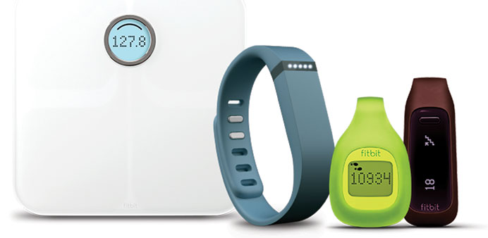 WEARABLES:  The range of products from Fitbit Flex.