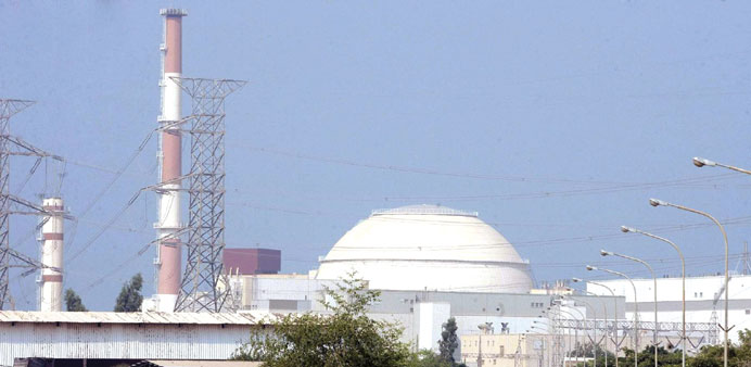 A general view of the nuclear power plant in Bushehr, Iran.