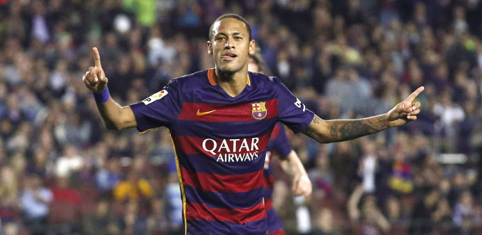 Celta Vigo go joint top, Neymar hits four in Barca's rout of Rayo