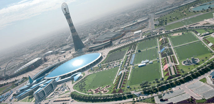 A view of the Aspire Zone.