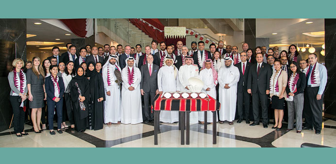 Katara Hospitality officials and staff on the occasion.