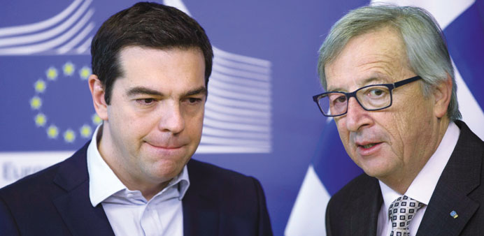 EU's Juncker pushes for deal with Greece