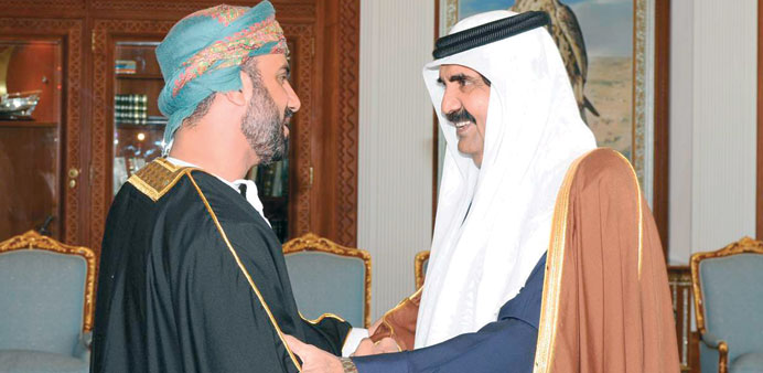 Emir receives Omani official