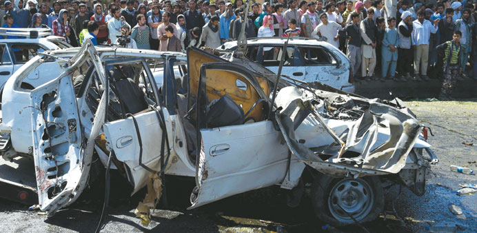 Two killed as suicide blasts hit Afghanistan