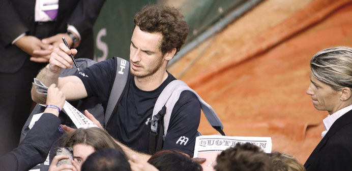 Murray not worried about on-court security
