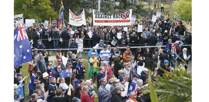 Pro- and anti-Islam rallies flare up in Australia cities