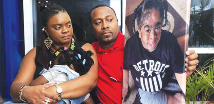 TJ Martin's family were left heartbroken after pictures of their son were stolen.