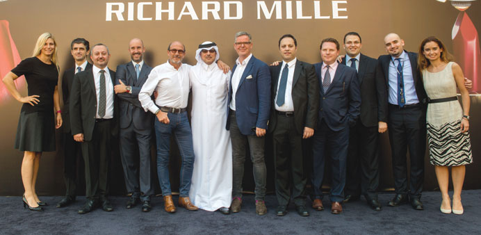 Richard Mille and Ali Bin Ali teams at the opening of the boutique.