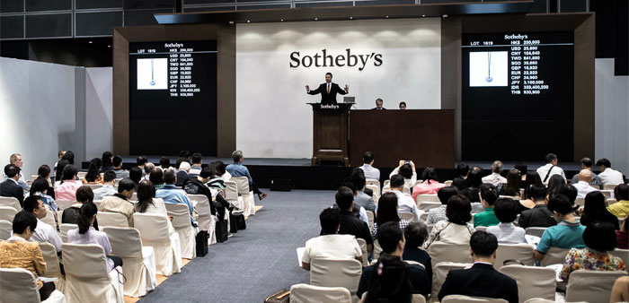 A Sotheby's auction sale is held in Hong Kong on October 7, 2015.  AFP