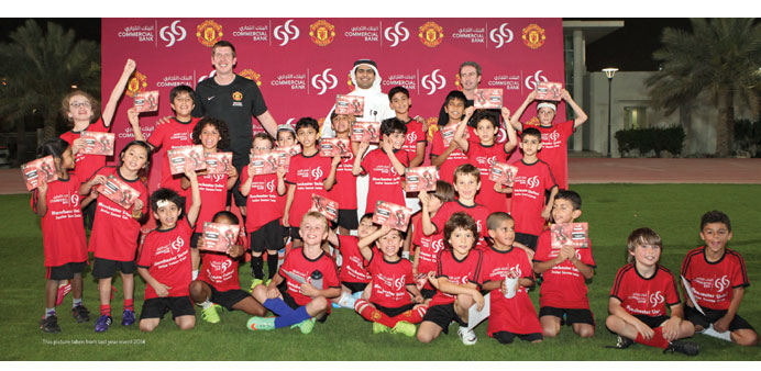 Commercial Bank gets Man Utd Soccer School camp to Doha