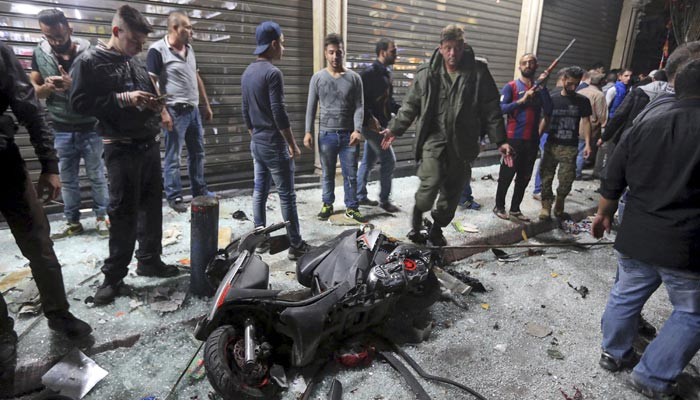 The twin suicide bomb attacks killed 44 people in Beirut last week.