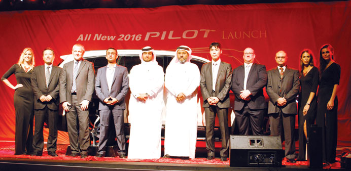 Domasco and Honda officials at the launch of the all-new 2016 Honda Pilot.
