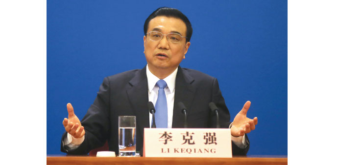 China premier says 7% growth goal never set in stone