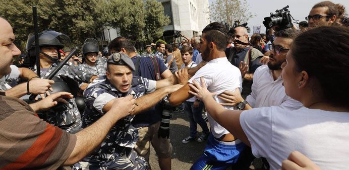 Police clash with Beirut protesters