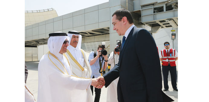 Romanian PM arrives in Doha